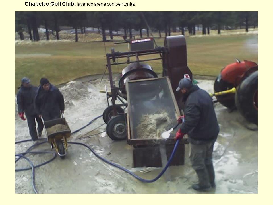 Chapelco Golf Club: lavando arena con bentonita
