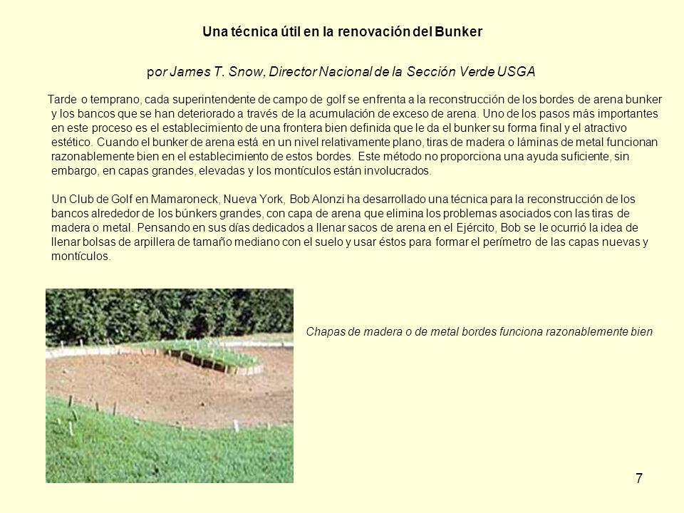 Una técnica útil en la renovación del Bunker por James T
