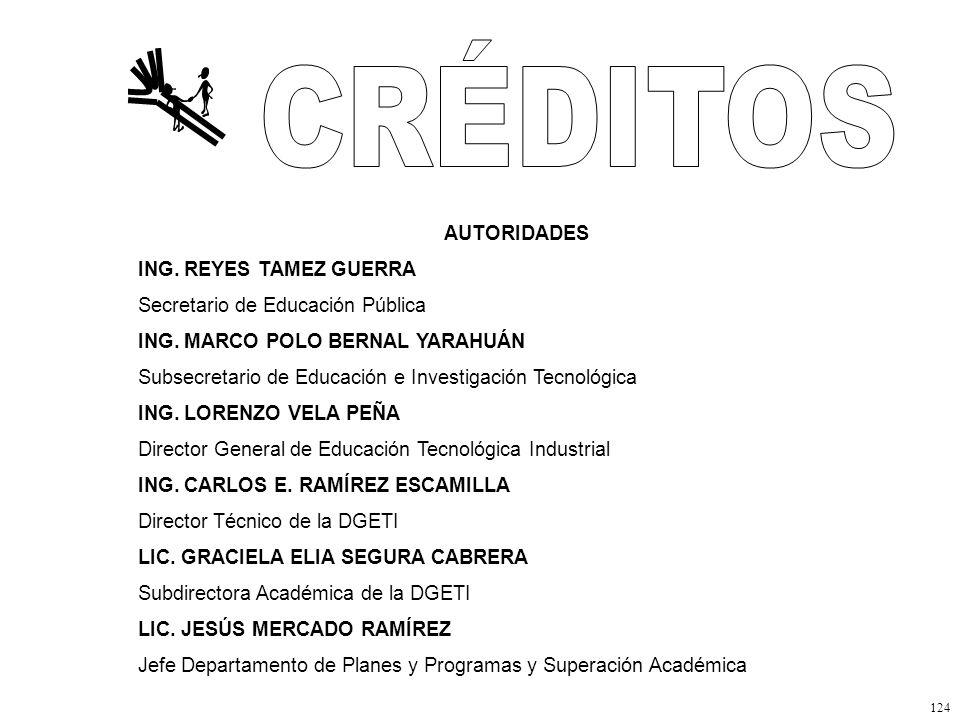 CRÉDITOS AUTORIDADES ING. REYES TAMEZ GUERRA