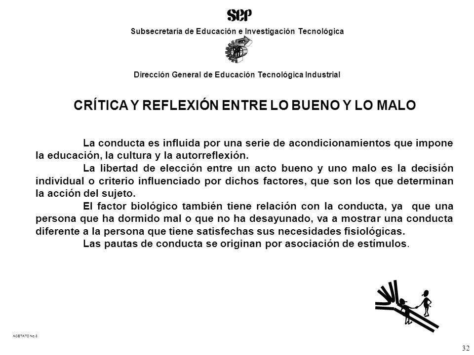 CRÍTICA Y REFLEXIÓN ENTRE LO BUENO Y LO MALO