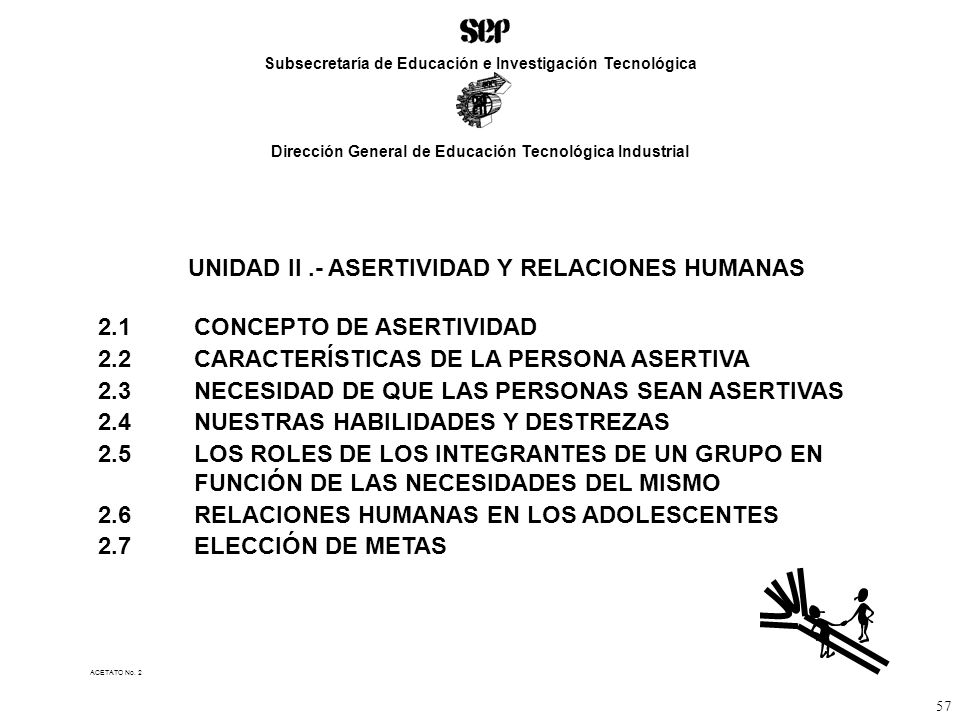 UNIDAD II .- ASERTIVIDAD Y RELACIONES HUMANAS