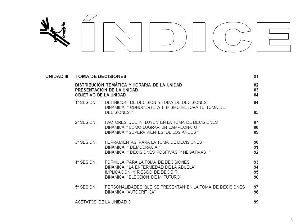 ÍNDICE UNIDAD III TOMA DE DECISIONES 81