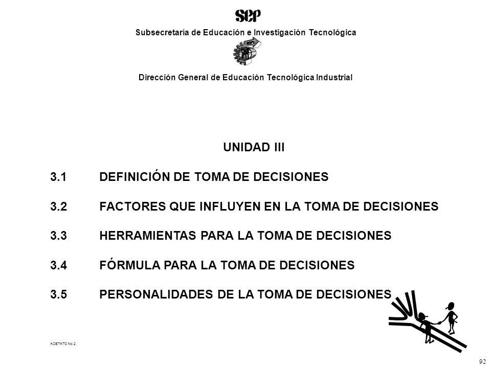 3.1 DEFINICIÓN DE TOMA DE DECISIONES