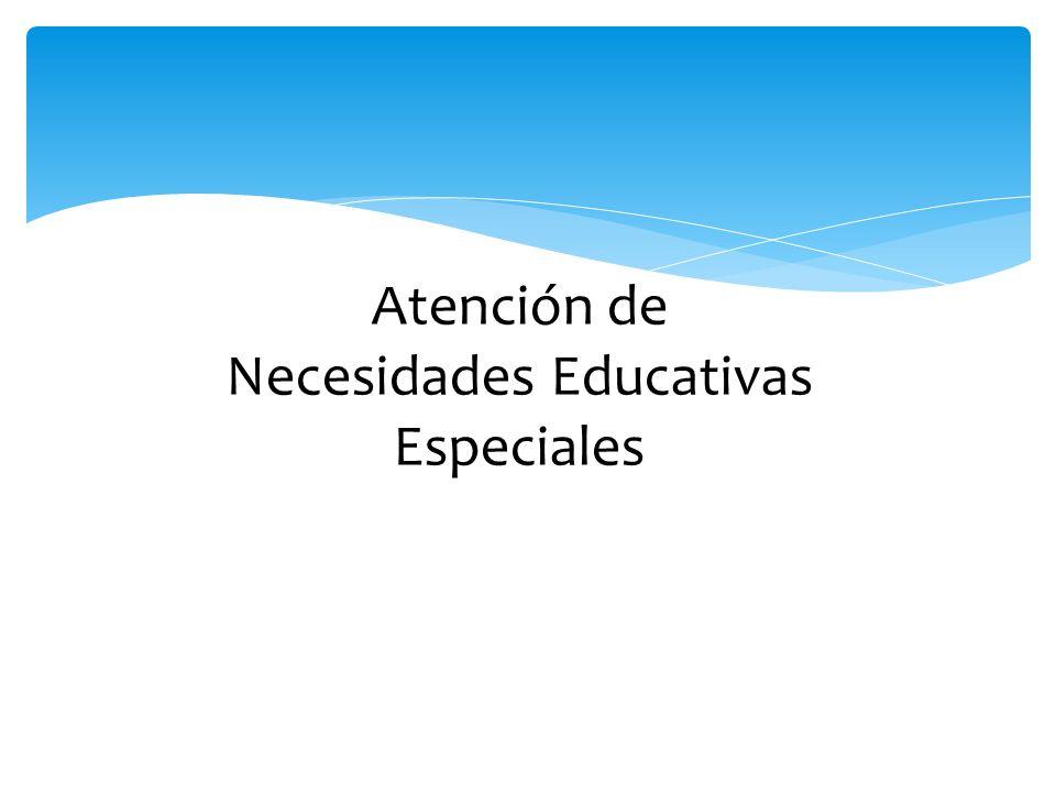 Atención de Necesidades Educativas Especiales