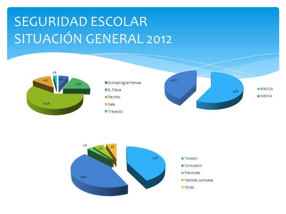 SEGURIDAD ESCOLAR SITUACIÓN GENERAL 2012