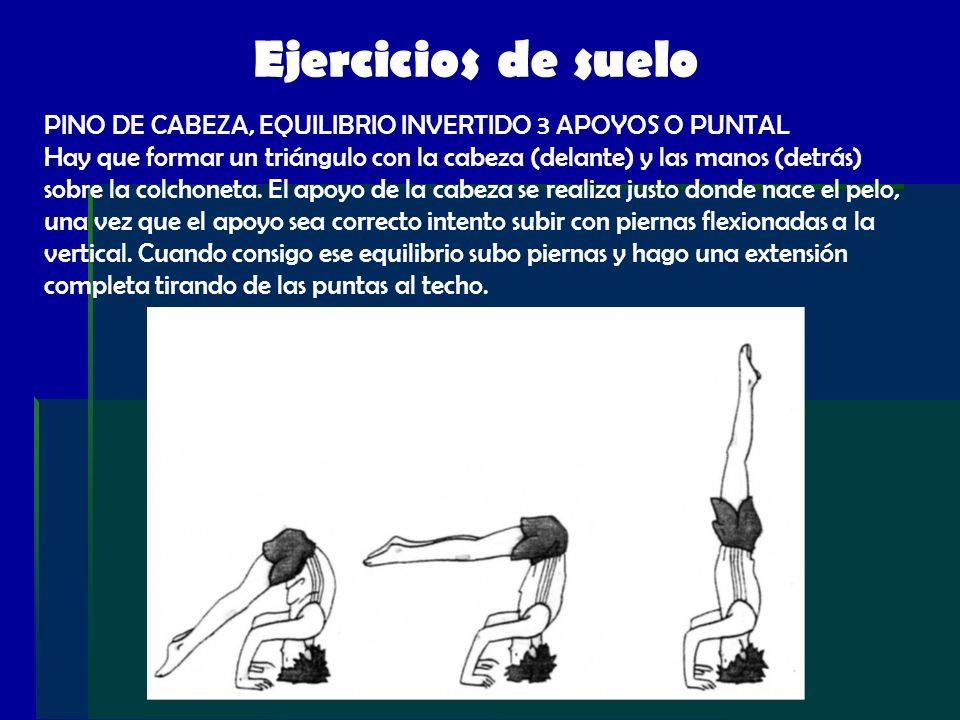 Ejercicios de suelo PINO DE CABEZA, EQUILIBRIO INVERTIDO 3 APOYOS O PUNTAL.