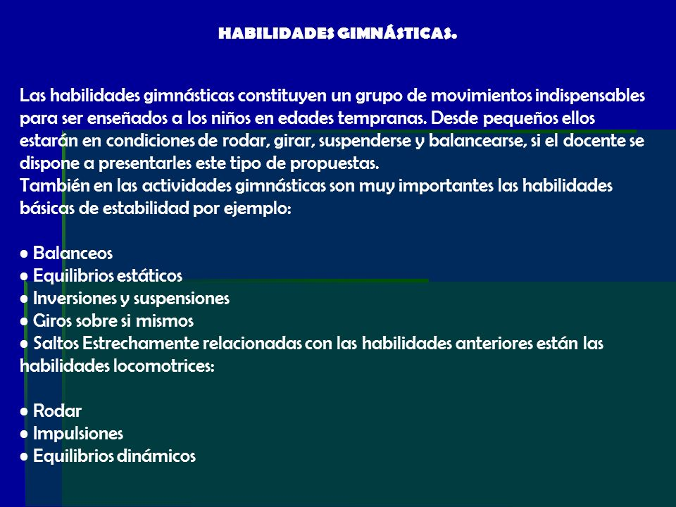 HABILIDADES GIMNÁSTICAS.