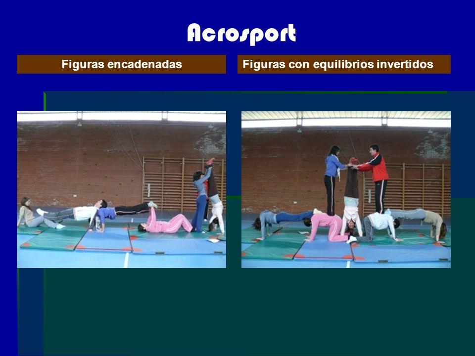 Acrosport Figuras encadenadas Figuras con equilibrios invertidos