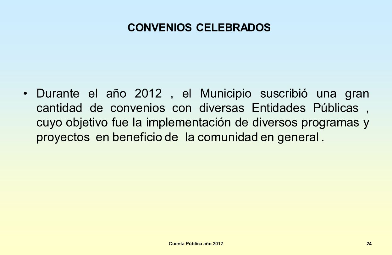 CONVENIOS CELEBRADOS