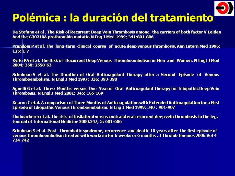 Polémica : la duración del tratamiento