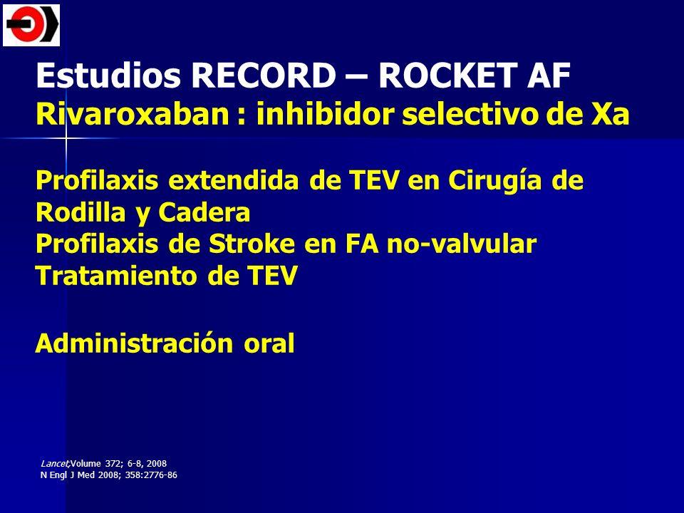 Estudios RECORD – ROCKET AF
