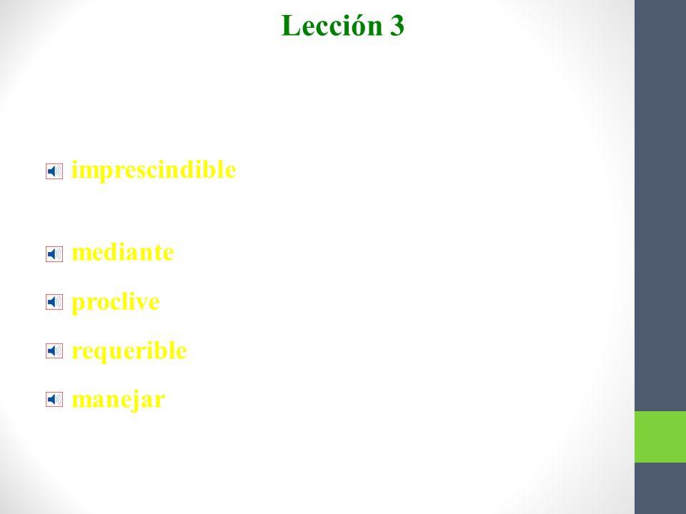 Lección 3 Más vocabulario imprescindible
