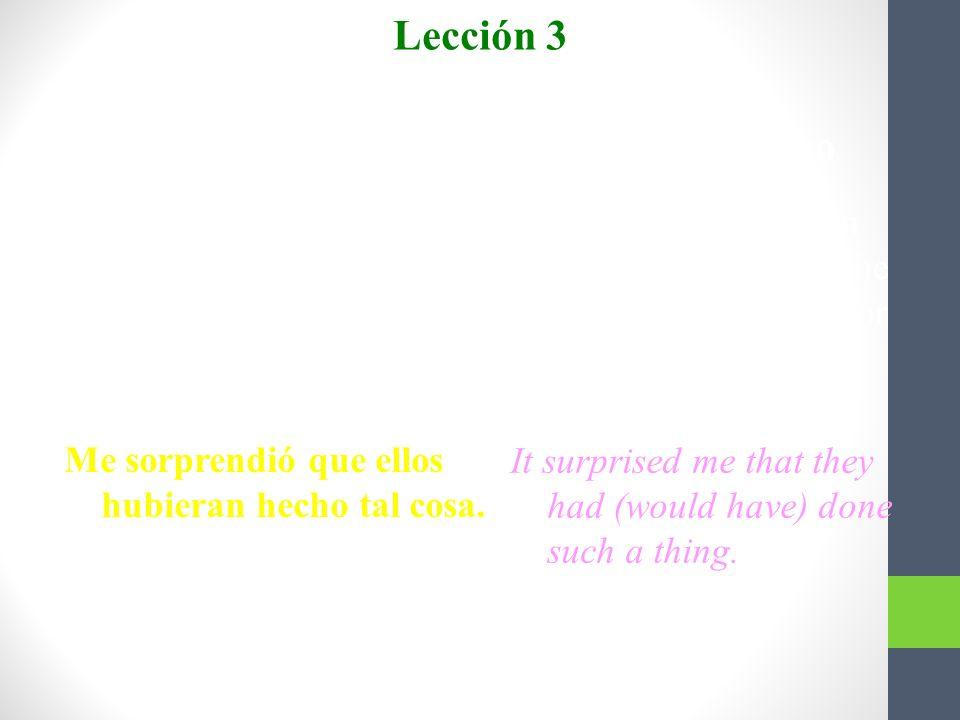 Presente perfecto y pluscuamperfecto del subjuntivo