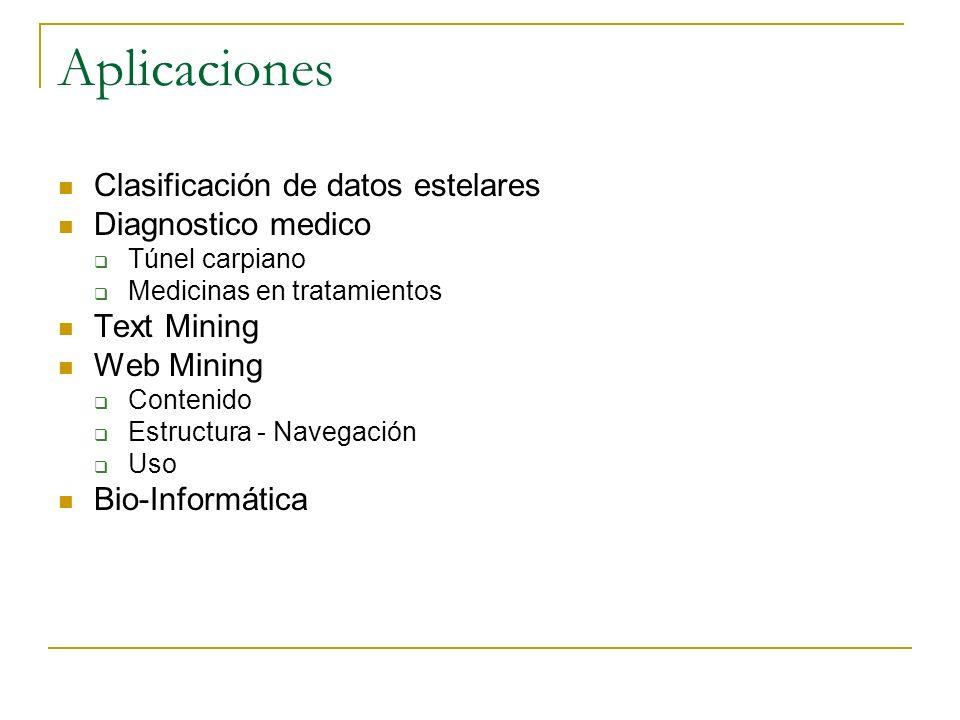Aplicaciones Clasificación de datos estelares Diagnostico medico