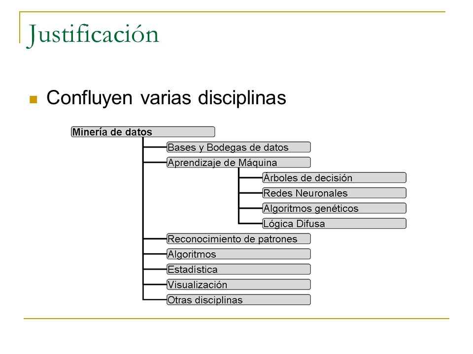 Justificación Confluyen varias disciplinas