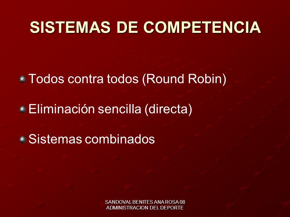SISTEMAS DE COMPETENCIA