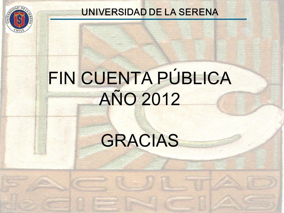 FIN CUENTA PÚBLICA AÑO 2012 GRACIAS