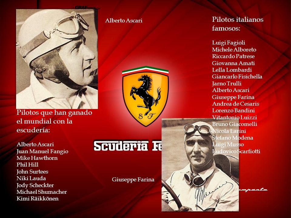 Pilotos italianos famosos: