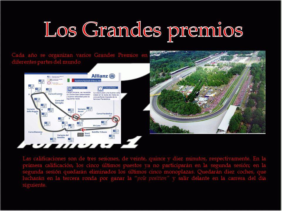 Los Grandes premios Cada año se organizan varios Grandes Premios en diferentes partes del mundo.