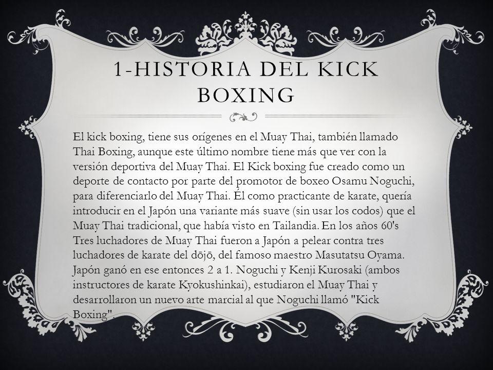 1-HISTORIA del kick boxing