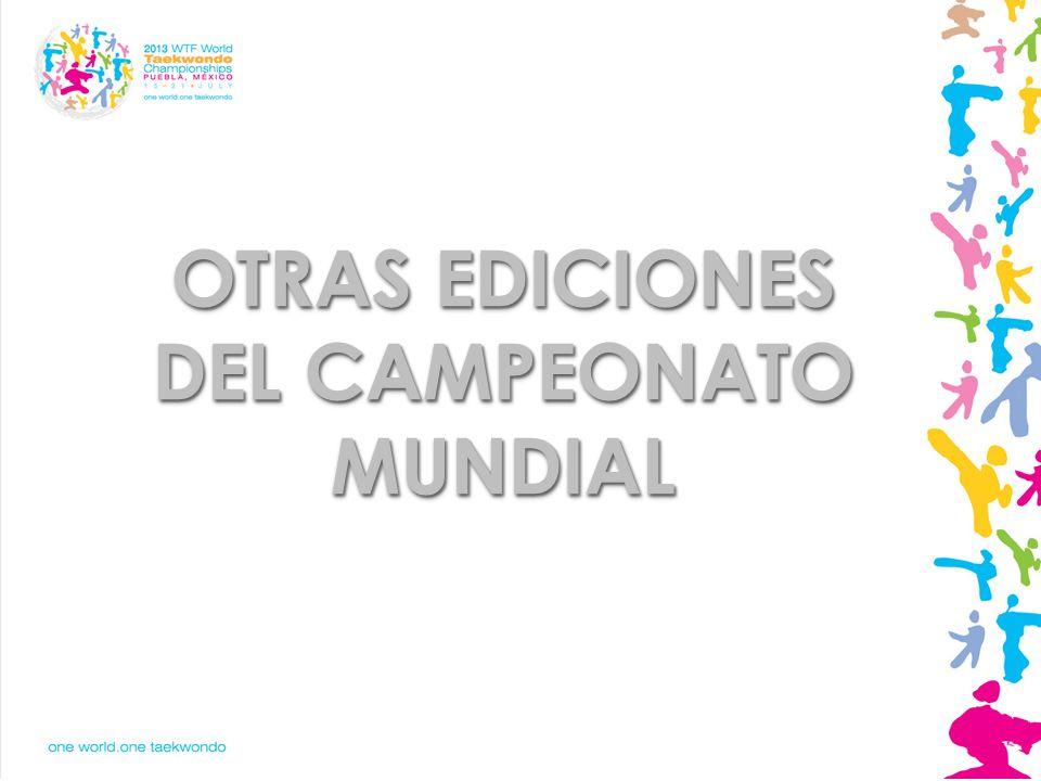 OTRAS EDICIONES DEL CAMPEONATO MUNDIAL
