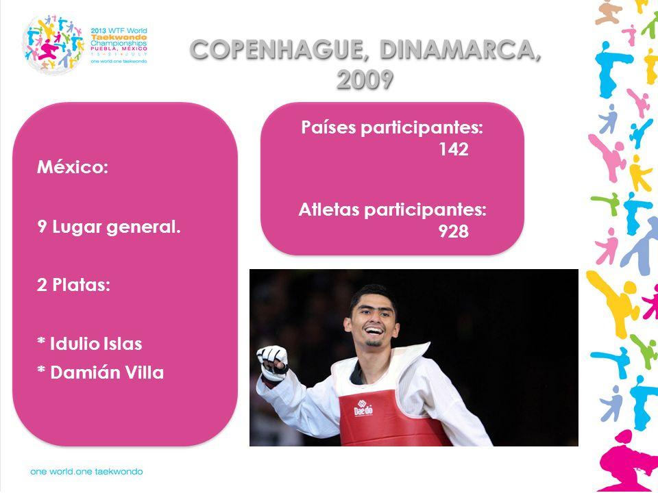 Países participantes: 142 Atletas participantes: 928
