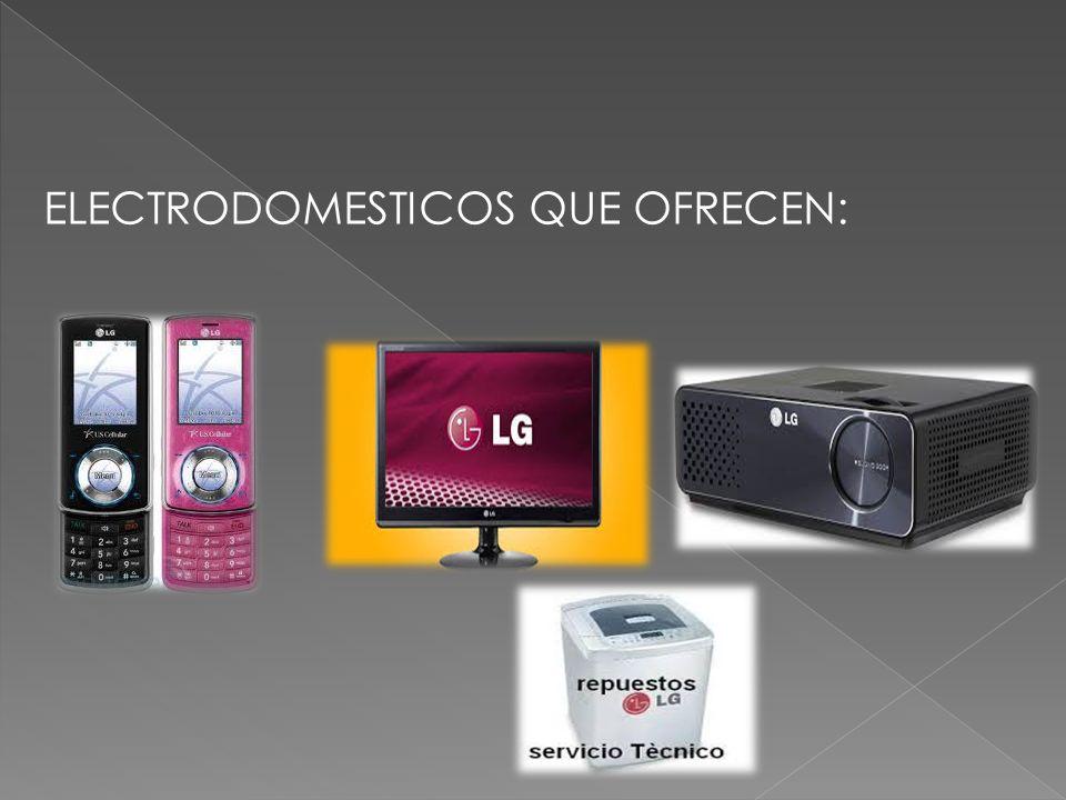ELECTRODOMESTICOS QUE OFRECEN: