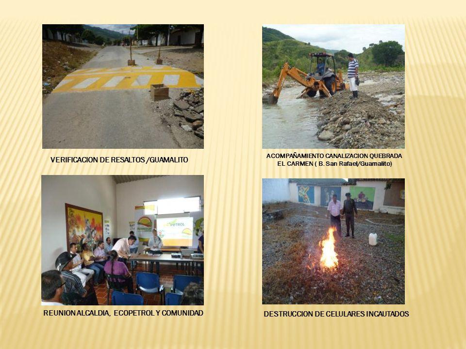 VERIFICACION DE RESALTOS /GUAMALITO