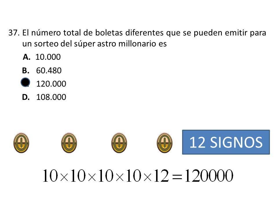 El número total de boletas diferentes que se pueden emitir para un sorteo del súper astro millonario es