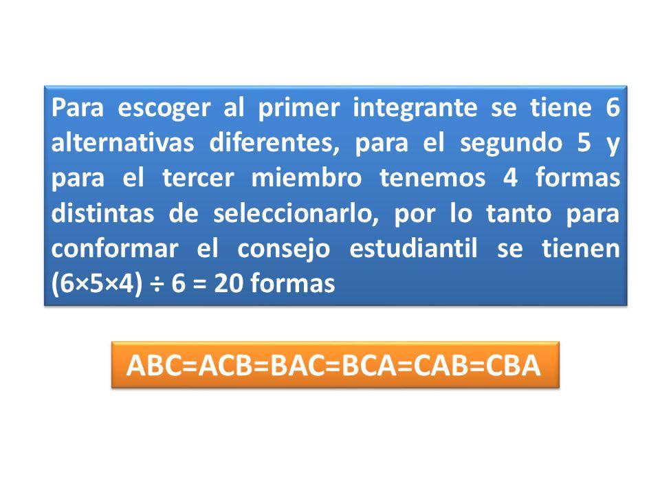 ABC=ACB=BAC=BCA=CAB=CBA