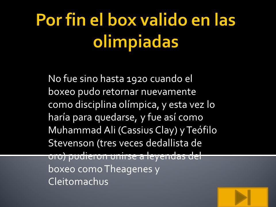 Por fin el box valido en las olimpiadas