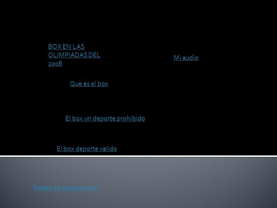 BOX EN LAS OLIMPIADAS DEL 2008