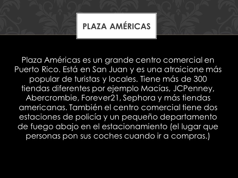 Plaza Américas