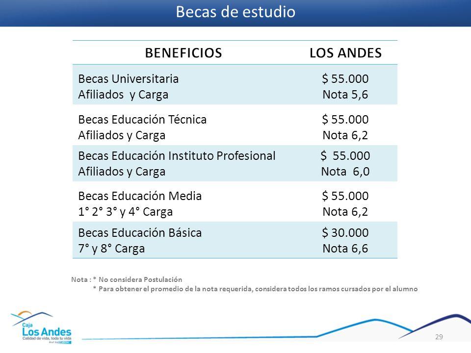 Becas de estudio BENEFICIOS LOS ANDES Becas Universitaria