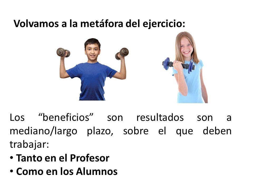 Volvamos a la metáfora del ejercicio: