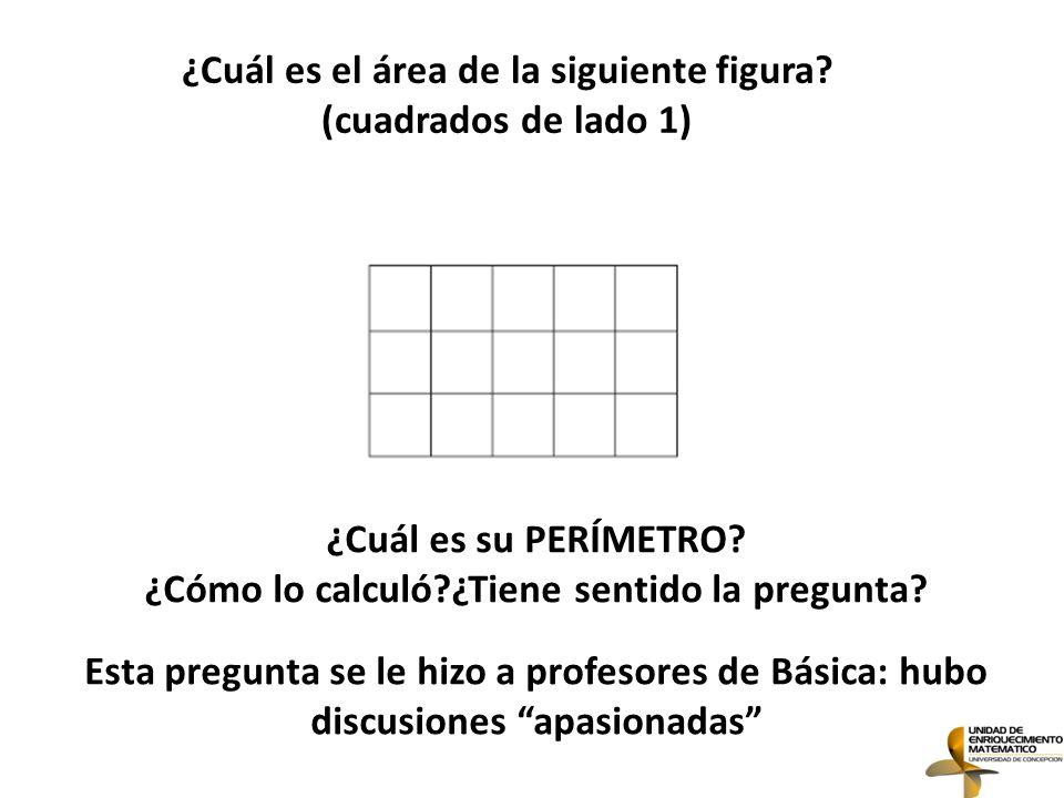 ¿Cuál es el área de la siguiente figura (cuadrados de lado 1)