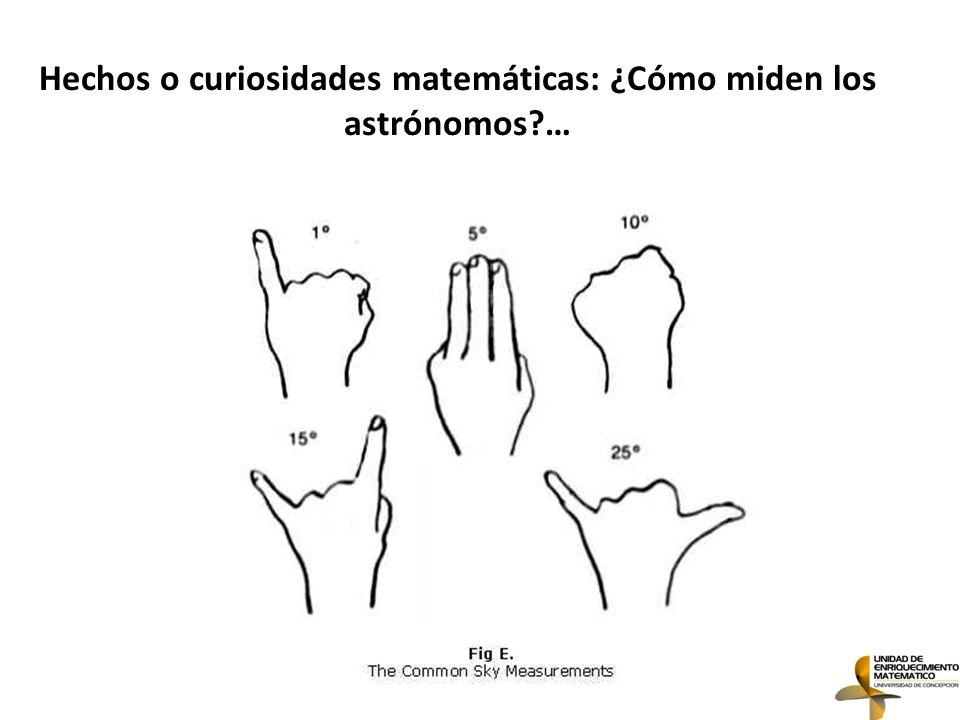 Hechos o curiosidades matemáticas: ¿Cómo miden los astrónomos …