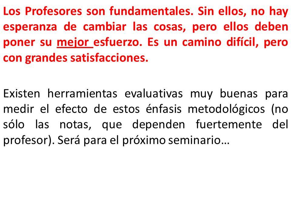 Los Profesores son fundamentales