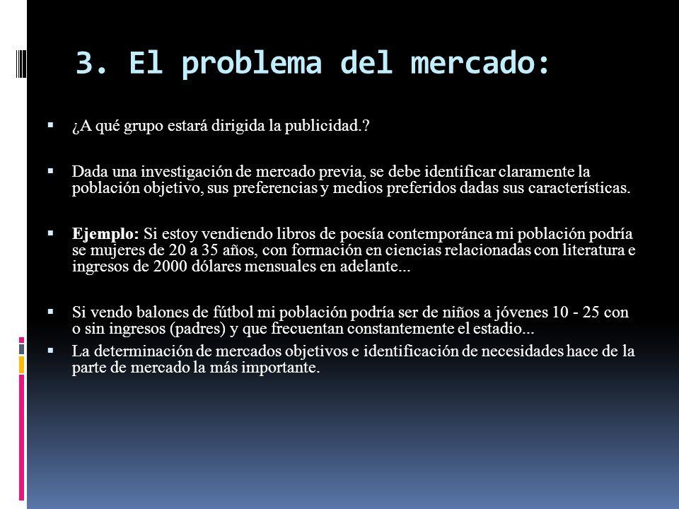 3. El problema del mercado: