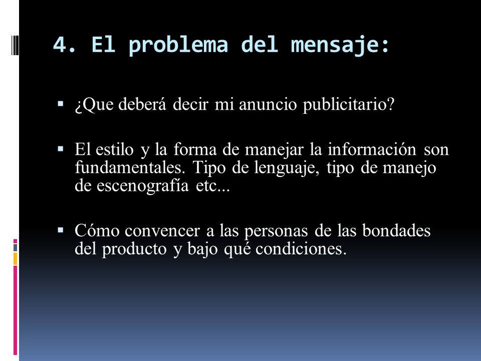 4. El problema del mensaje: