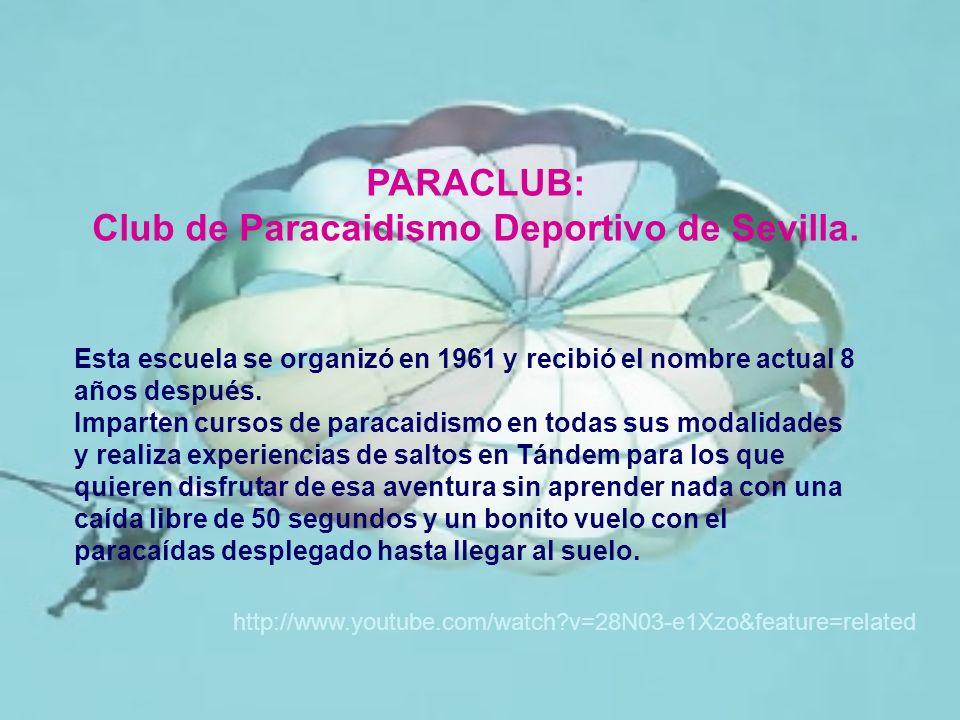 Club de Paracaidismo Deportivo de Sevilla.