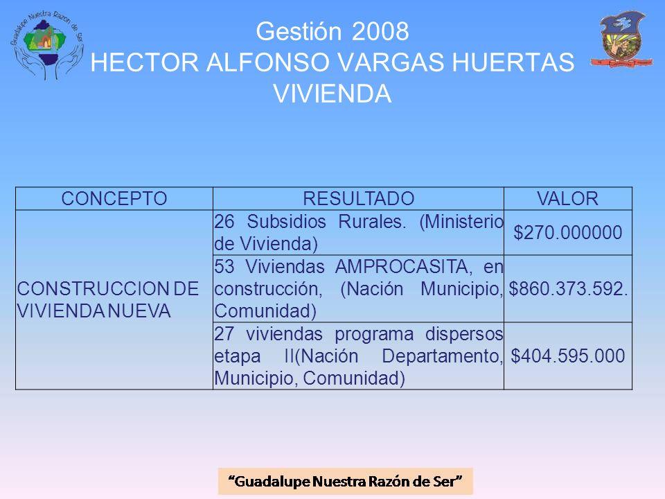 Gestión 2008 HECTOR ALFONSO VARGAS HUERTAS VIVIENDA