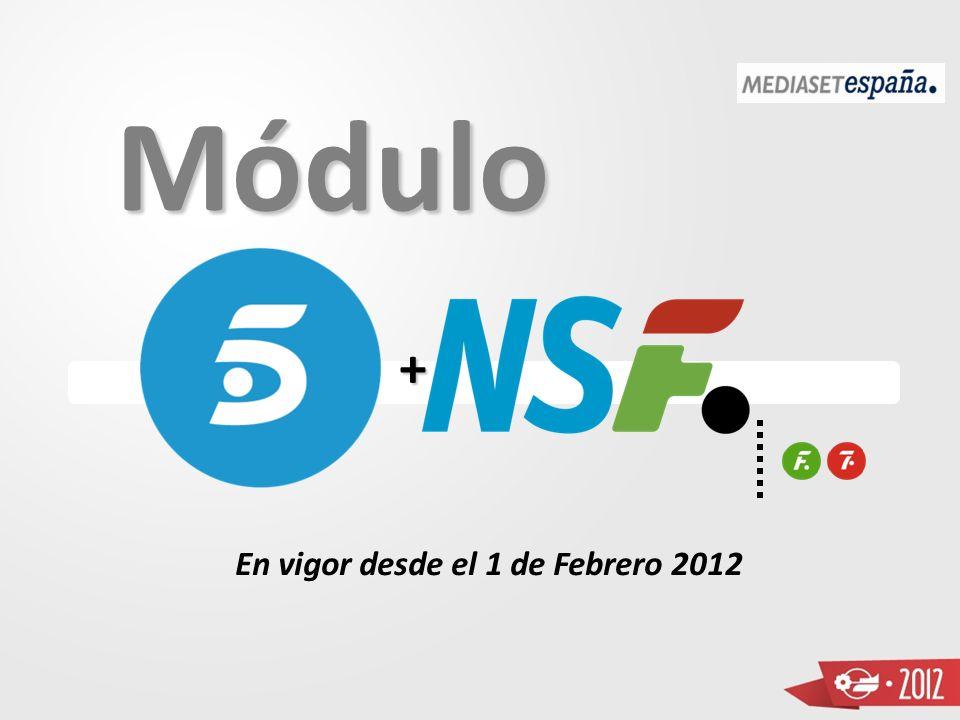En vigor desde el 1 de Febrero 2012