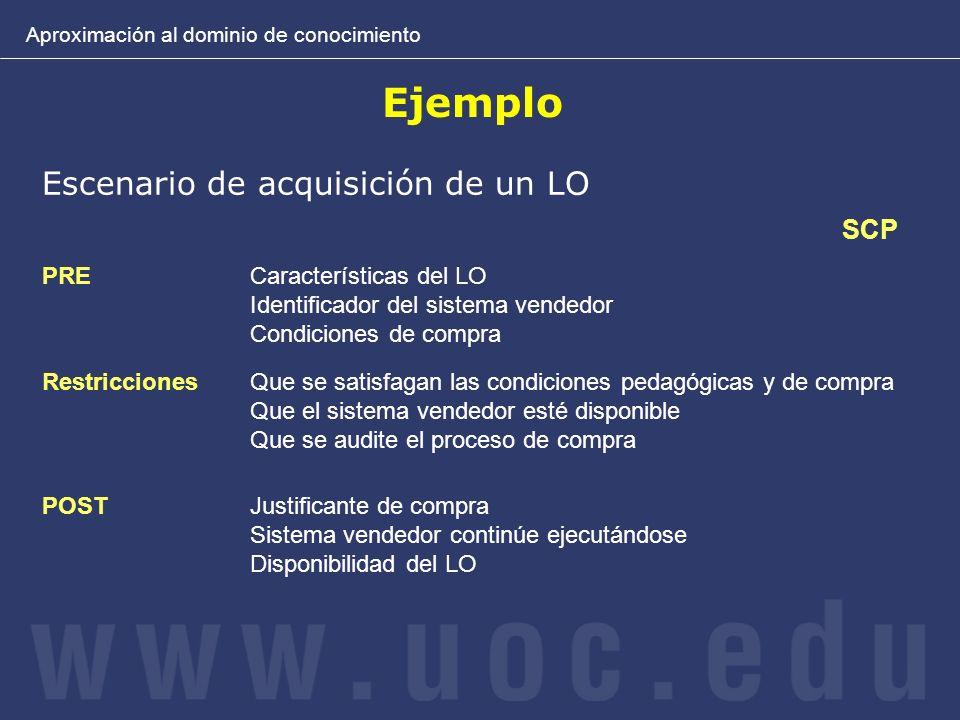 Ejemplo Escenario de acquisición de un LO SCP PRE