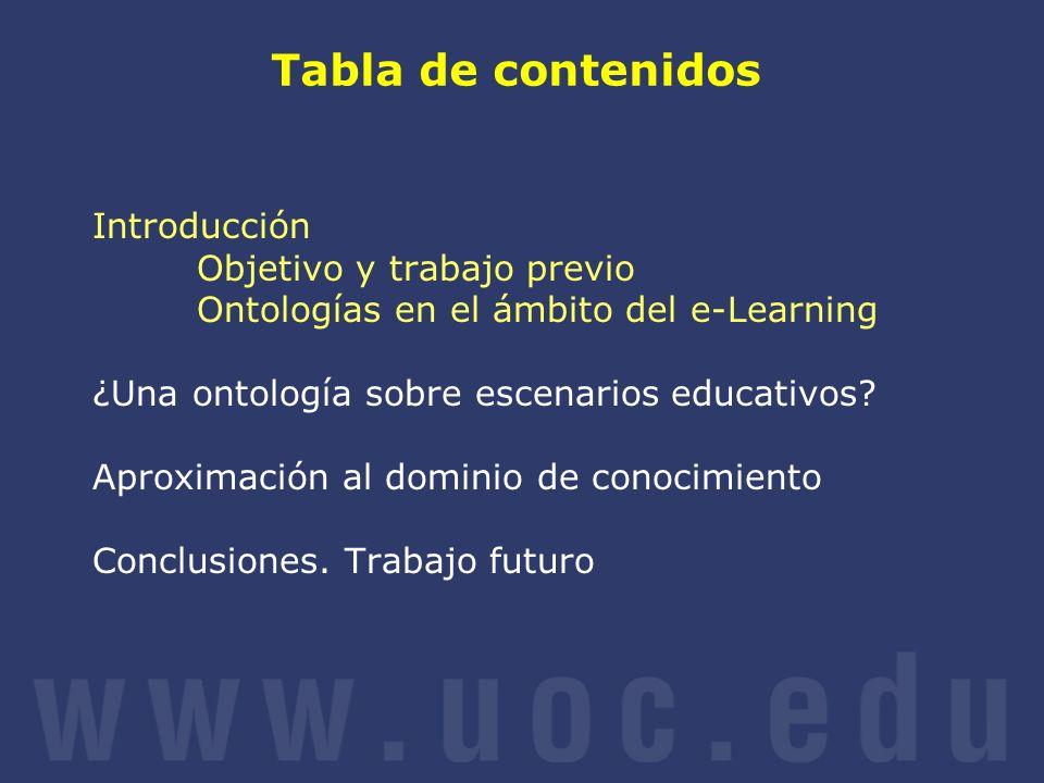 Tabla de contenidos Introducción Objetivo y trabajo previo