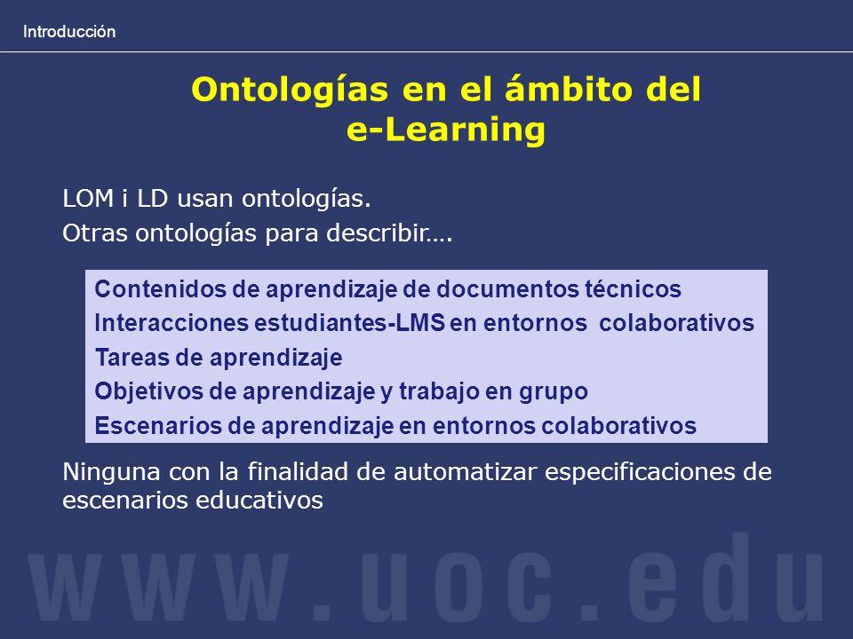 Ontologías en el ámbito del e-Learning