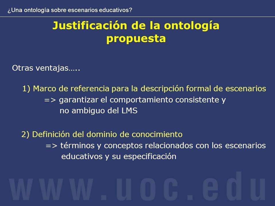 Justificación de la ontología propuesta