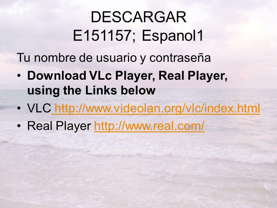 DESCARGAR E151157; Espanol1 Tu nombre de usuario y contraseña