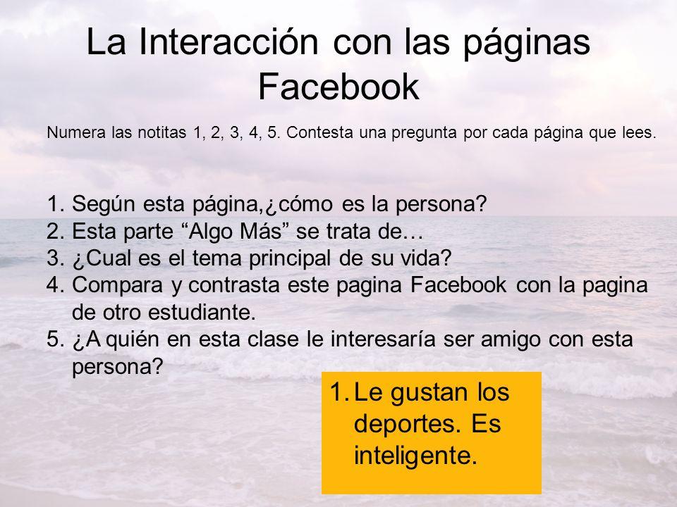 La Interacción con las páginas Facebook