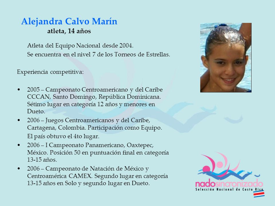 Alejandra Calvo Marín atleta, 14 años